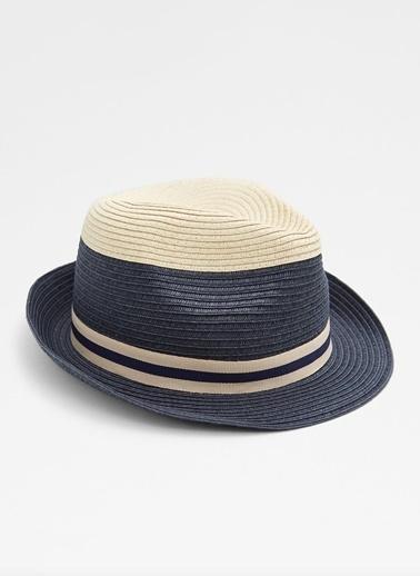 Aldo Torymus - Lacivert Hasir Şapka Beyaz
